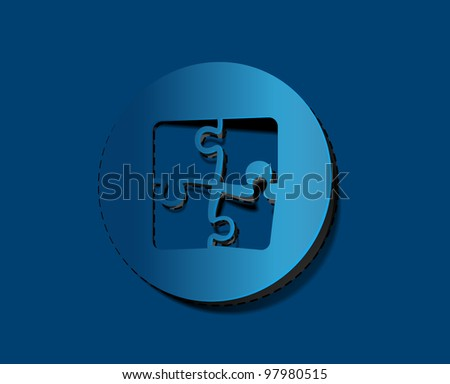 striker vector puzzle web icon design element. - stock vector