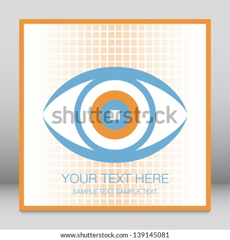 Striking eye design with copy space. - stock vector