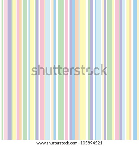 Strip pattern, pastel colors. Vector illustration - stock vector