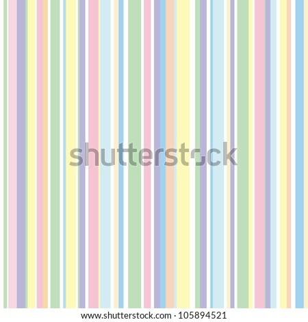 Strip pattern, pastel colors. Vector illustration - stock vector