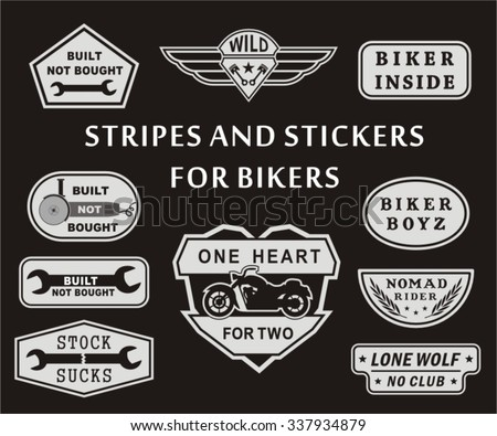 Stripe and stickers for bikers