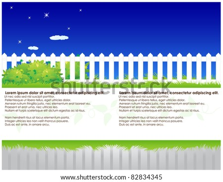 Striped abstract background with it located on bush vegetation and white fence