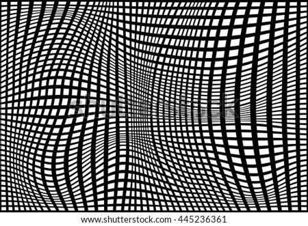 Striped abstract grill background. black and white print. Vector illustration. eps10.