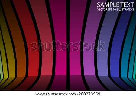 Striped abstract vector colorful background illustration template - Vector striped abstract background illustration - stock vector
