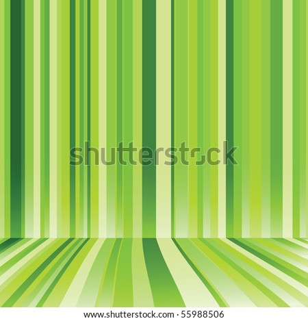 Striped background in green colour. Vector illustration - stock vector