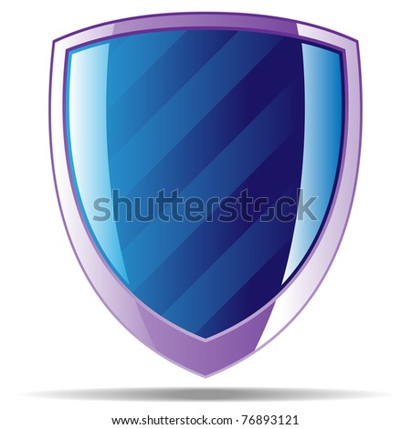 striped badge2 - stock vector
