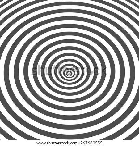 Striped black and white optical illusion background. Op art design.  Vector Illustration EPS10. - stock vector