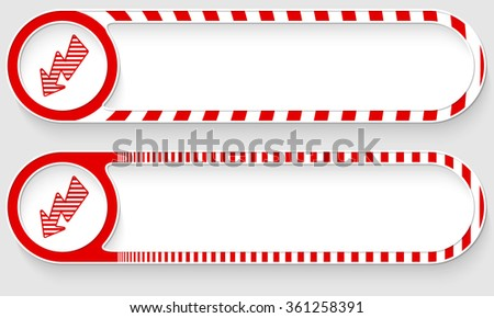 Striped buttons for your text and flash - stock vector