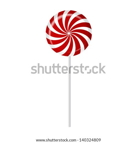 Striped candy vector illustration - stock vector