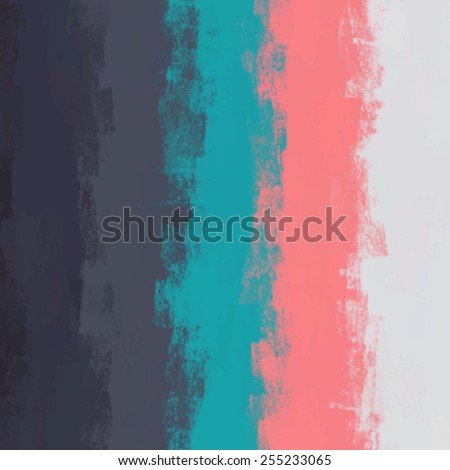 Striped chalk five colors background. Vector version - stock vector