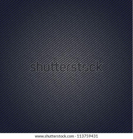 Striped fabric surface for blue background, 10eps - stock vector