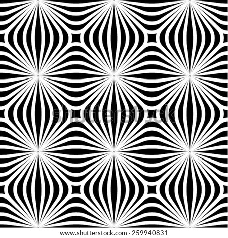 Striped geometric pattern of squares seamless vector background. - stock vector