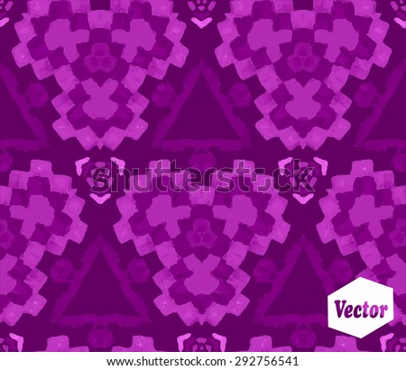 Striped hand painted vector seamless pattern with ethnic and tribal motifs, zigzag lines, brushstrokes and splatters of paint in multiple bright colors. Vector illustration