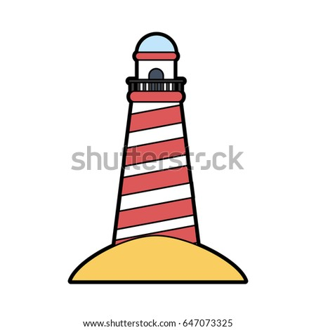 striped lighthouse icon image