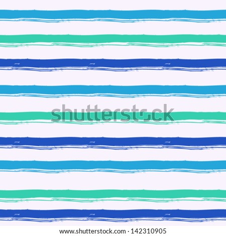 Striped pattern inspired by navy uniform in shades of aqua blue. Texture for web, print, wallpaper, home decor, spring summer fashion fabric, textile, invitation or website background. Marine set. - stock vector