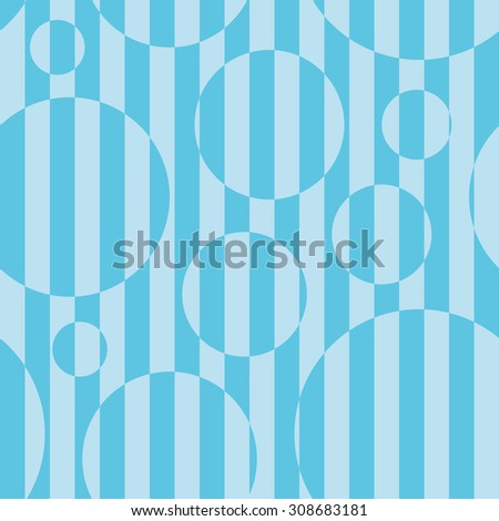 Striped seamless background in blue color with optical illusion effect. - stock vector