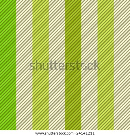 Striped seamless pattern in fresh green colors - stock vector