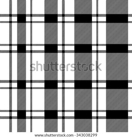 Stripped and checkered pattern with diagonal hatching. Retro textile collection. Black and white. Backgrounds & textures shop.