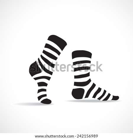 Stripped socks, illustration - stock vector