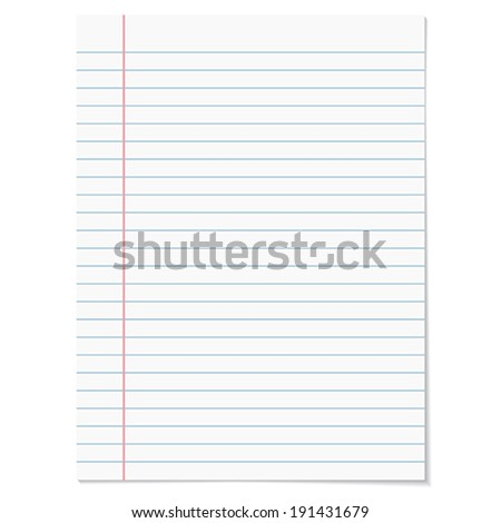 Strips notebook paper on white  background.    Vector illustration