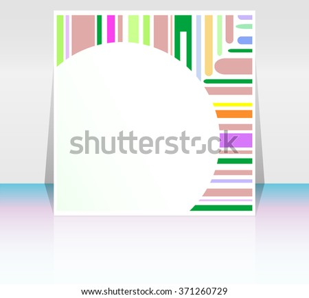 stroke shape frame design elements with blank frame, vector background