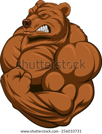 Strong bear - stock vector