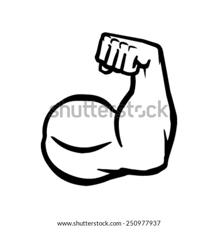 strong bodybuilder biceps flex arm vector stock vector 250977937