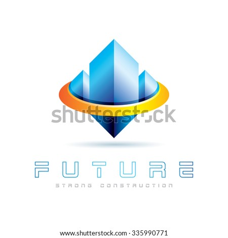Strong Construction Icon Logo Element - stock vector