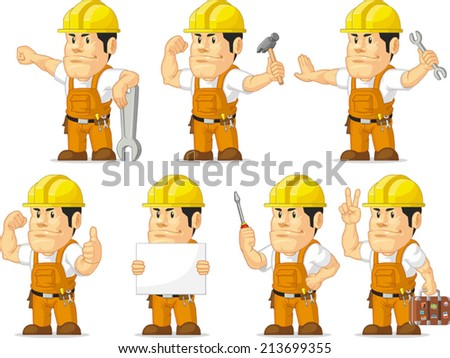 Strong Construction Worker Mascot 11