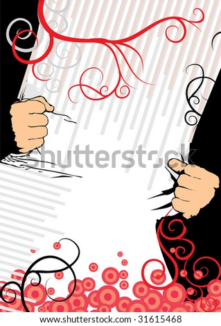 strong hands - stock vector