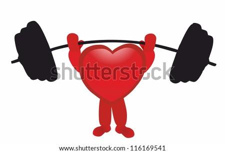 strong heart - stock vector