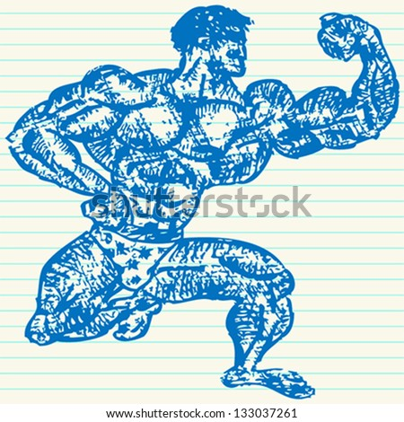 Strong man/Bodybuilder/Muscles