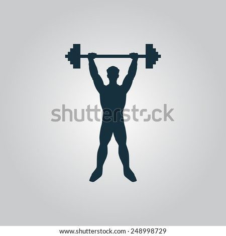 Strong man icon illustration of fitness. Vector illustration flat icon EPS10 - stock vector