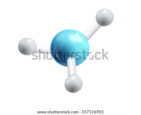 Structural chemical formula and model of molecule, 3d object isolated on the white backgrpound. Vector Illustration, eps10, contains transparencies. - stock vector