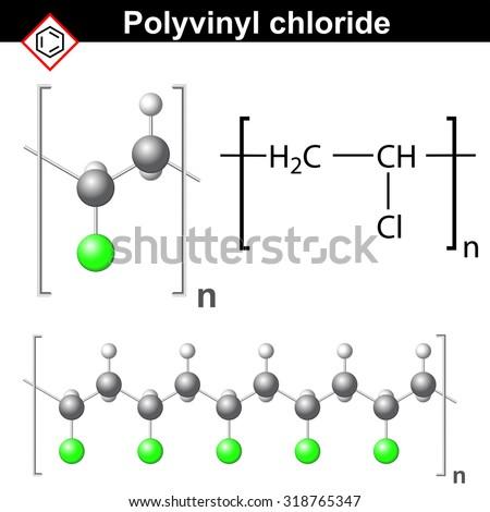 Structural Chemical Formula Model Polyvinyl Chloride Stock
