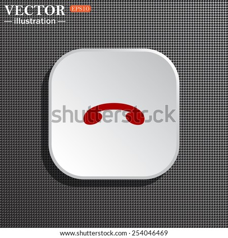 Structural gray background with shadow, white square. challenge, to end the call. Vector illustration, EPS 10 - stock vector