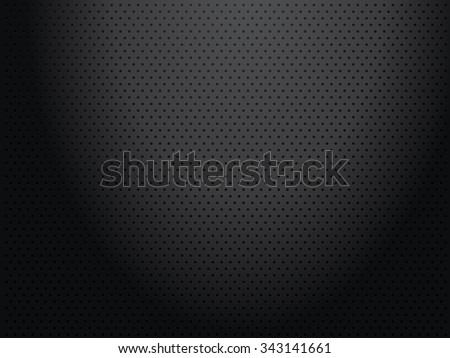 Structure black perforated metallic background
