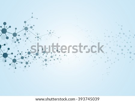 Structure molecule of DNA and neurons. Abstract background. Medicine, science and technology. Vector illustration for your design. - stock vector