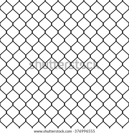Structure of the mesh fence. Seamless pattern. - stock vector