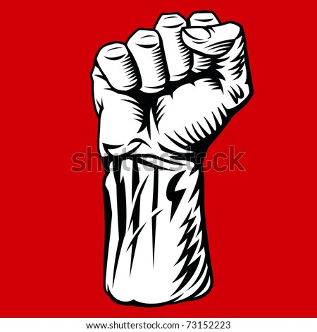 Struggle Hand Symbol. Vector Illustration - stock vector