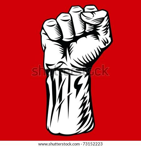 Struggle Hand Symbol. Vector Illustration - stock vector