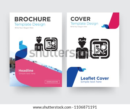 Student Brochure Flyer Design Template Abstract Stock Vector ...