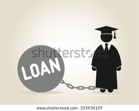 Student Loan Education Scholarship College Career - stock vector