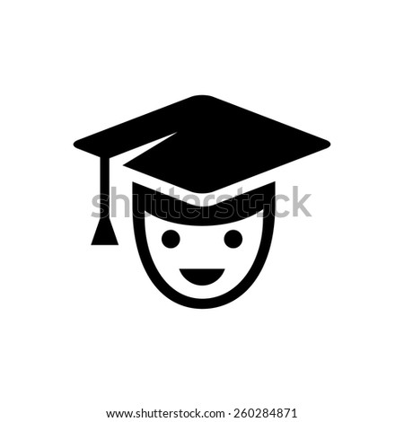 Student or school boy icon - stock vector