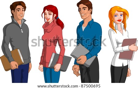 Students - stock vector