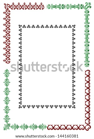 studied the eastern border set of antique patterns