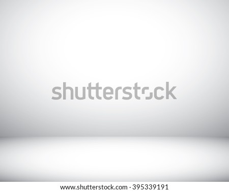 Studio room white background for photography- Vector EPS 10  - stock vector