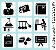 studying and university icon set - stock vector
