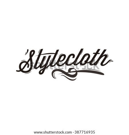 style cloth logotype for cloth business