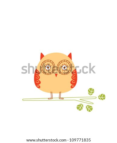 style owl - stock vector